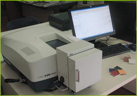 Spettrofotometro UV-Vis-NIR - riflettanza, trasmittanza